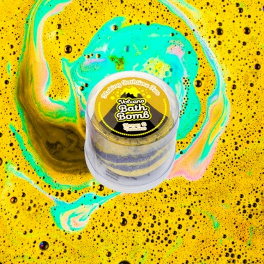 Bath Bomb Honey B Volcano Swirl